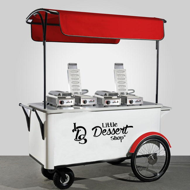 Little Dessert Shop Crepe Waffle Stand with Red Canopy