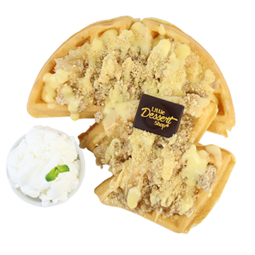 APPLE CRUMBLE PIE WAFFLE