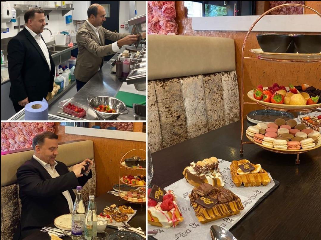 Andy Carter MP visits Little Dessert Shop Warrington for a sweet treat!