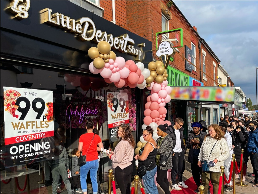 Little Dessert Shop Coventry DELIGHTS as mile-long queues begin to form on opening day